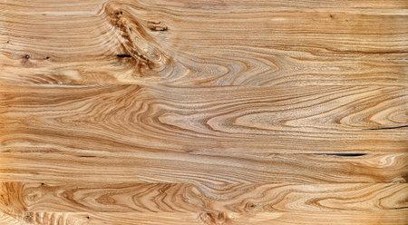 Elm slab texture. Wood texture. Live edge elm desk countertop in workshop Stockfoto