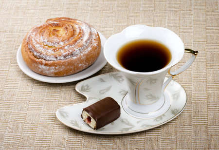 cup saucer: Breakfast, bread, cup, saucer