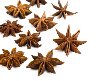anise: Star anise on a white background