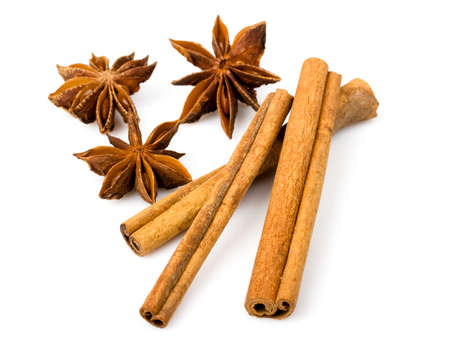 anice: anice and cinnamon  Stock Photo