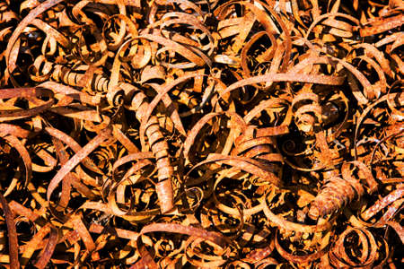 Rusted metal shavings photo