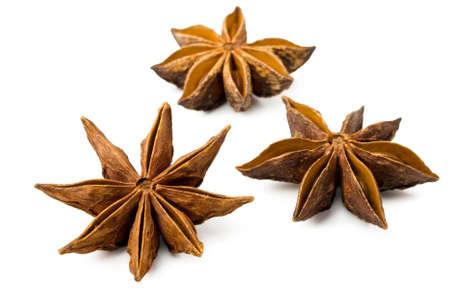 badiane: Star anise on a white background