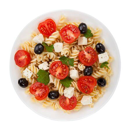 Salade de pâtes isolé Banque d'images - 36999029