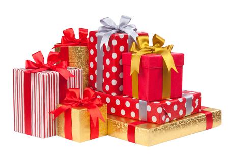 Gift boxes on white background Фото со стока - 36999060