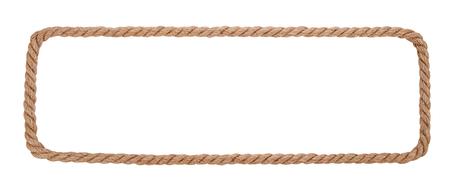 Rope border isolated on white background.
