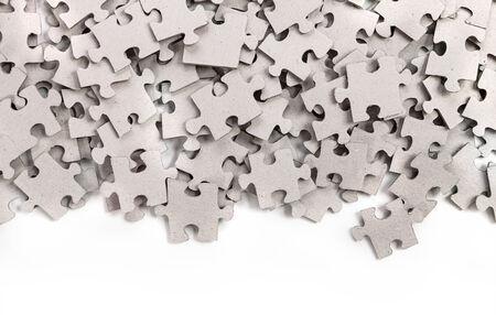 Puzzle isolato su sfondo bianco Archivio Fotografico - 36999949