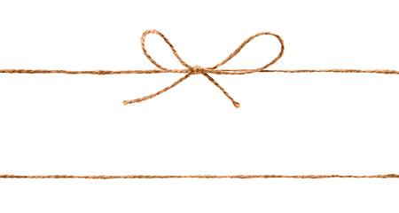 Corda e fiocco isolato su sfondo bianco Archivio Fotografico - 36999410