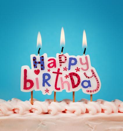 Candele di buon compleanno Archivio Fotografico - 36999415
