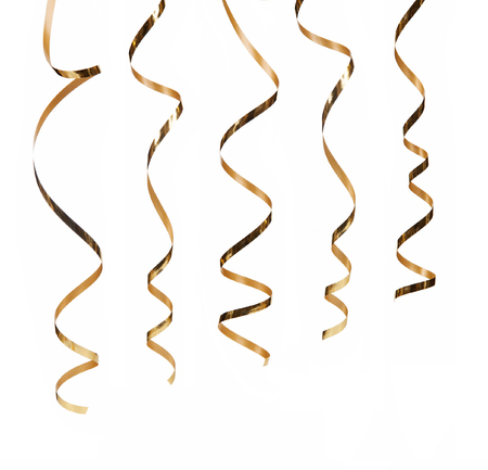 Serpentina oro isolato su sfondo bianco Archivio Fotografico - 36999379