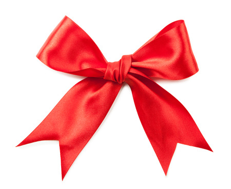 Red Bow isolated on white Background. Standard-Bild - 41635287