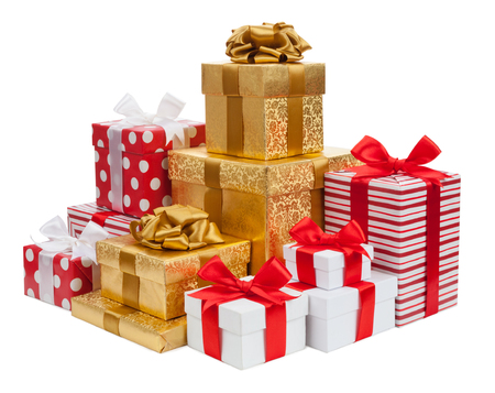 Gift boxes isolated on white background Фото со стока - 41634912