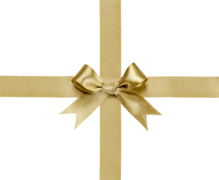 Gift ribbon with bow isolated on white background Фото со стока - 41606251