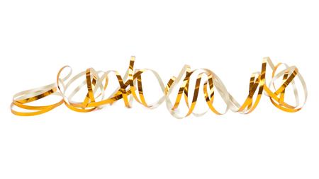 Serpentina d'oro isolato su sfondo bianco. Archivio Fotografico - 41606232