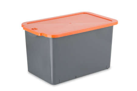plastic box isolated on a white background