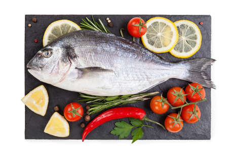 fish isolated on the white background. food concept Фото со стока