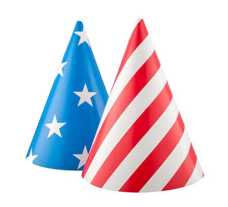 4 july brithday USA party hat isolated. Фото со стока