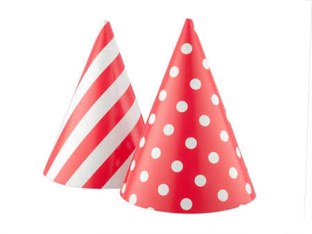 party hat isolated on a white background. Фото со стока