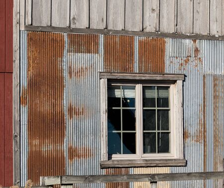Reminiscent of the old days, here is a rustic siding to an old country store.