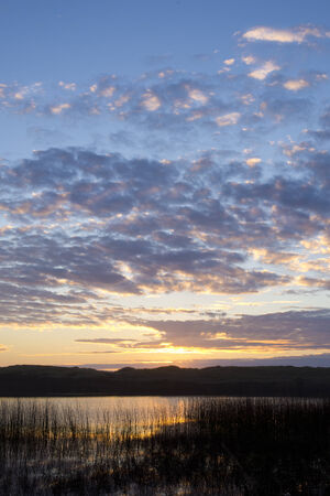 garrison: Sunset over Garrison Lake Oregon