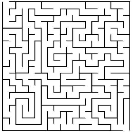 Vector illustration of maze labyrinth. Isolated on white background