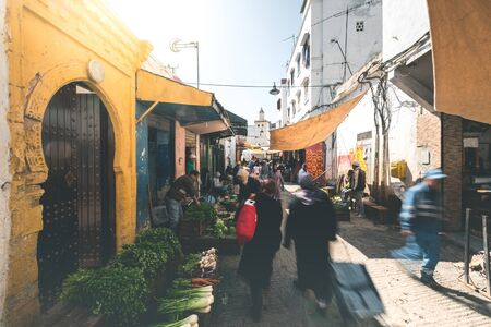 Local Bazaar in the Streets of Rabat - Morocco