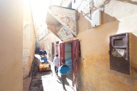 Life in the Streets of Fez - Morocco Reklamní fotografie