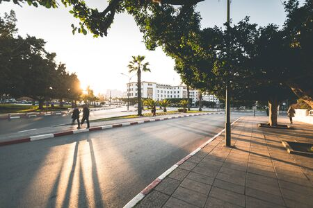 Evening Light in the Streets of Rabat - Morocco
