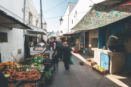 Local Bazaar in the Streets of Rabat - Morocco