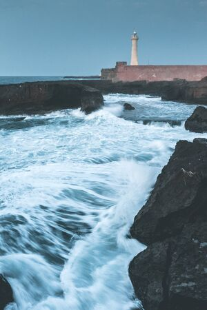 Lighthouse of Rabat in the Evening - Morocco Stockfoto