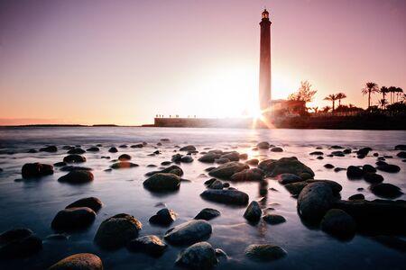 Maspalomas lighthouse during sunset - Gran Canaria