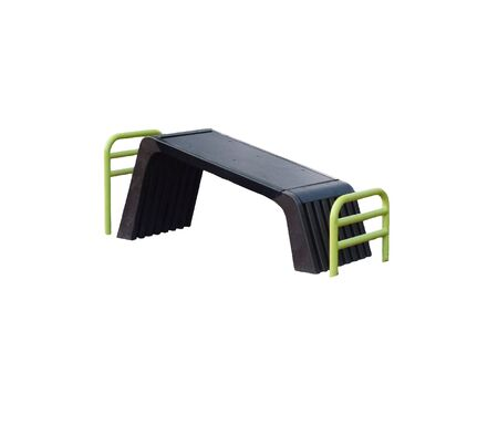 situp: Outdoors sit-up bench on white background Stock Photo