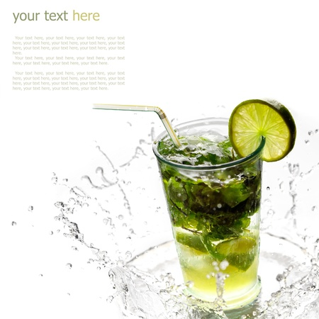 Ice cold Mojito spray (with sample text) photo