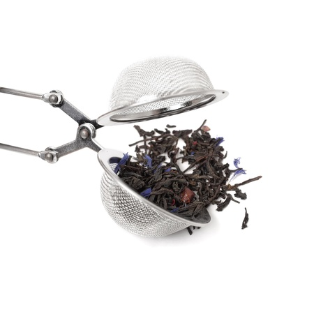 tea infuser isolated on white background Foto de archivo