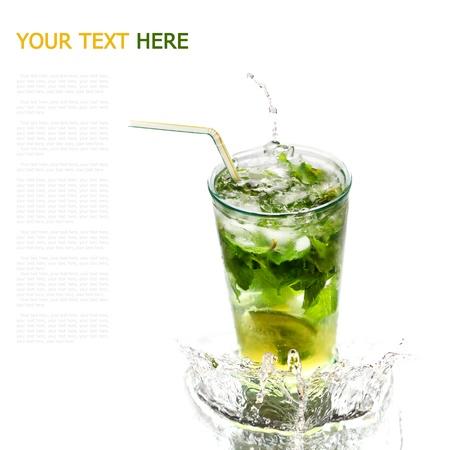 Ice cold Mojito spray (with sample text) Reklamní fotografie