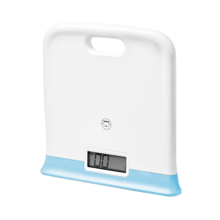 Digital scales on white  with sample text  Stock Photo