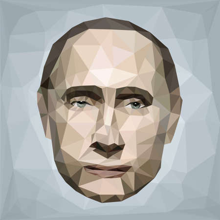 portrait of Vladimir Putin president Russia low poly art background