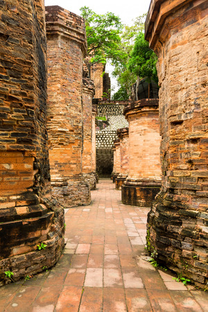 The brick ruins of an old temple in Vietnam, tourist, Nha Trang