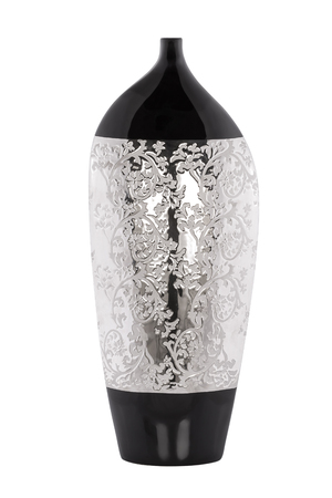 Beautiful ceramic vase on white background Banco de Imagens