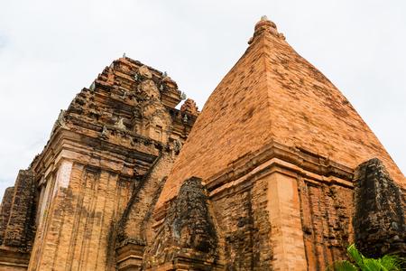 Old Vietnamese temple Tyam towers Po Nagar, Cham tower, Nha Trang Stock Photo