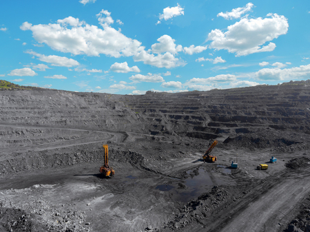 Open pit mine, breed sorting, mining coal, extractive industry anthracite, Coal industry