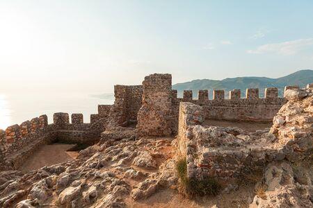 Panorama ancient Greco Roman city. Ruins of an ancient fortress, Alanya, Turkey. Reklamní fotografie