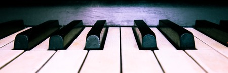 octave: black and white keys of the old piano