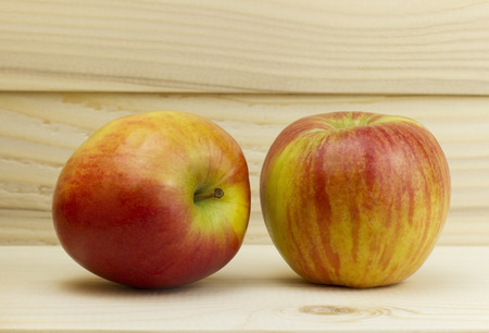 two fresh juicy natural Apple
