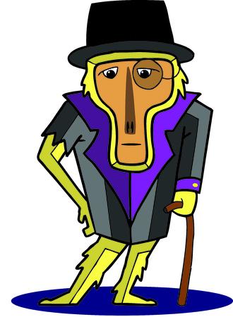 illustration of Mr. monkey Banco de Imagens