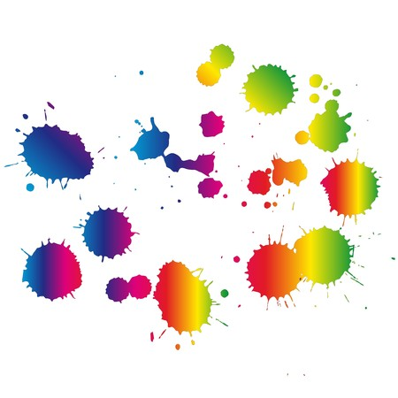 Multi Colored blots on the white background