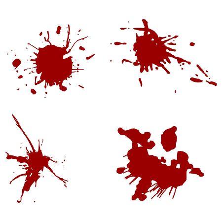 blood red splatters (vector)  illustration Stock Vector - 10994364