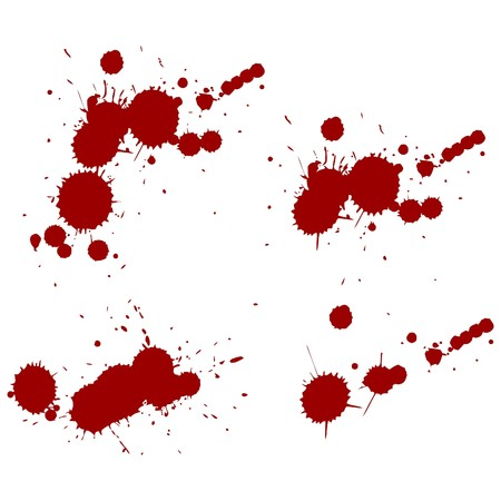 blood red splatters. Vector  illustration Stock Vector - 10994368