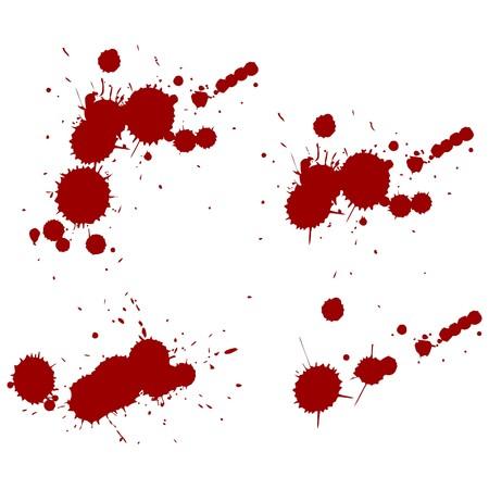 blood red splatters. Vector  illustration Illustration