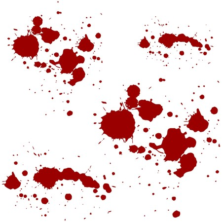 blob: blood red splatters vector  illustration Illustration