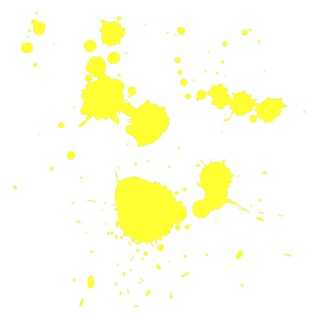 set of yellow blots splatters. Vector Stock Vector - 10994363